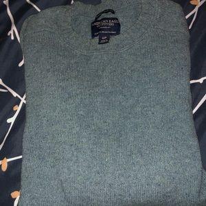 American Eagle Crew Neck Light Blue Sweater